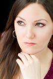 Retrato da mulher modelo bonita com cabelo longo Fotografia de Stock