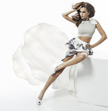 Retrato da mulher moreno bonita Imagem de Stock Royalty Free
