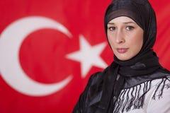 Retrato da mulher muçulmana Fotografia de Stock Royalty Free