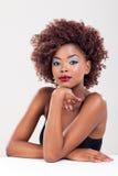 Retrato da mulher negra da beleza Foto de Stock
