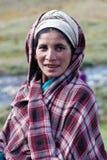 Retrato da mulher nepalesa na roupa nacional Foto de Stock Royalty Free