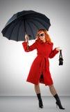 Retrato da mulher nova à moda Imagem de Stock