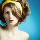 Retrato da mulher nova Fotografia de Stock Royalty Free