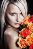 Retrato da mulher nova Foto de Stock Royalty Free