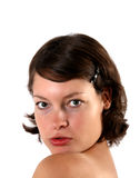 Retrato da mulher nova Imagens de Stock