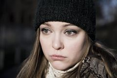 Retrato da mulher nova Fotos de Stock