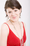 Retrato da mulher nova, bonita fotografia de stock royalty free