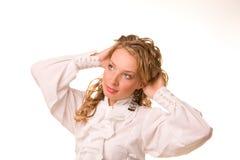 Retrato da mulher nova bonita Fotos de Stock