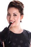 Retrato da mulher nova bonita do asain Fotografia de Stock Royalty Free