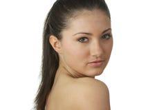 Retrato da mulher nova com pele da saúde da face Fotos de Stock Royalty Free