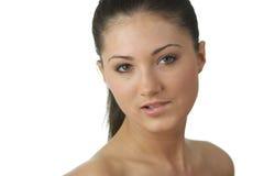 Retrato da mulher nova com pele da saúde da face Imagens de Stock Royalty Free