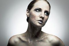 Retrato da mulher nova da beleza Imagem de Stock Royalty Free