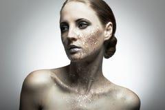 Retrato da mulher nova da beleza Foto de Stock