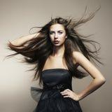 Retrato da mulher nova da dança Imagens de Stock