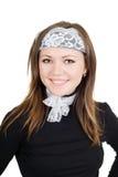 Retrato da mulher nova de sorriso fotografia de stock