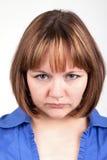 Retrato da mulher ofendida imagem de stock