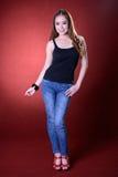Retrato da mulher saudável bonita Imagens de Stock Royalty Free