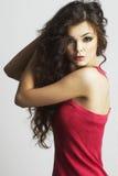 Retrato da mulher 'sexy' com composição bonita Fotos de Stock Royalty Free