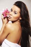 Retrato da mulher 'sexy' fresca e bonita Imagens de Stock