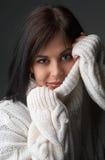 Retrato da mulher triguenha bonita imagens de stock royalty free