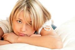 Retrato da mulher triste Imagem de Stock Royalty Free