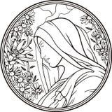 Retrato da mulher, vetor Imagem de Stock Royalty Free