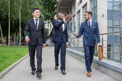 Retrato da multi equipe étnica do negócio Foto de Stock Royalty Free