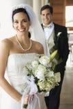 Retrato da noiva e do noivo. foto de stock royalty free