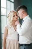 Retrato da noiva e do noivo Fotografia de Stock Royalty Free