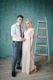 Retrato da noiva e do noivo Fotografia de Stock