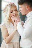 Retrato da noiva e do noivo Imagem de Stock