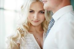 Retrato da noiva e do noivo Fotos de Stock