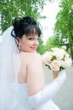 Retrato da noiva feliz nova… fotos de stock royalty free