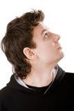 Retrato da pessoa que olha para cima Fotografia de Stock