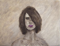 Retrato da pintura a óleo de uma mulher do mistério Fotos de Stock