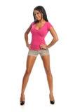Retrato da posição da mulher nova Imagem de Stock Royalty Free