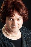 Retrato da rainha do arrasto - sério Foto de Stock Royalty Free