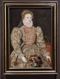 Retrato da rainha Elizabeth I, por um artista inglês do unkown imagens de stock royalty free