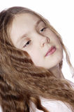 Retrato da rapariga. imagens de stock