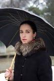 Retrato da rapariga bonita com um guarda-chuva Imagem de Stock Royalty Free