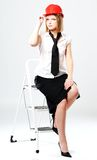 Retrato da rapariga com um cabelo justo Imagens de Stock Royalty Free
