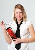 Retrato da rapariga com um cabelo justo Imagem de Stock Royalty Free