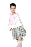 Retrato da rapariga do asiático do adolescente Imagens de Stock Royalty Free
