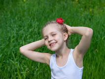 Retrato da rapariga no parque Fotografia de Stock
