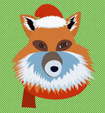 Retrato da raposa do Natal Foto de Stock Royalty Free
