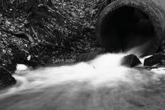 Retrato da represa pequena no rio Foto de Stock Royalty Free
