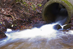 Retrato da represa pequena no rio Fotografia de Stock