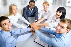 Retrato da reunião de unidade de negócio Imagens de Stock