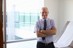 Retrato da sala masculina do doutor Standing In Exam fotos de stock
