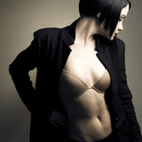Retrato da senhora à moda bonita Fotos de Stock Royalty Free